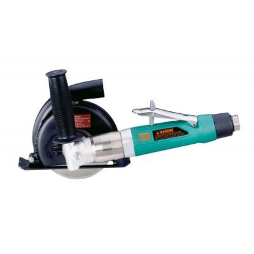 """Dynabrade 52438 5"""" 7 Degree Offset Central Vacuum Cut-Off Wheel Tool   1 HP   12,000 RPM   Rotary Vane   Rear Exhaust   3/8""""-24 Spindle Thread"""