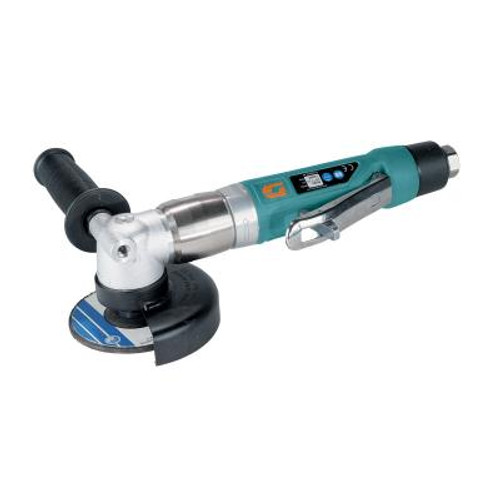 """Dynabrade 50302 4"""" Right Angle Depressed Center Wheel Grinder   1 HP   12,000 RPM   Rear Exhaust   3/8""""-24 Spindle Thread"""
