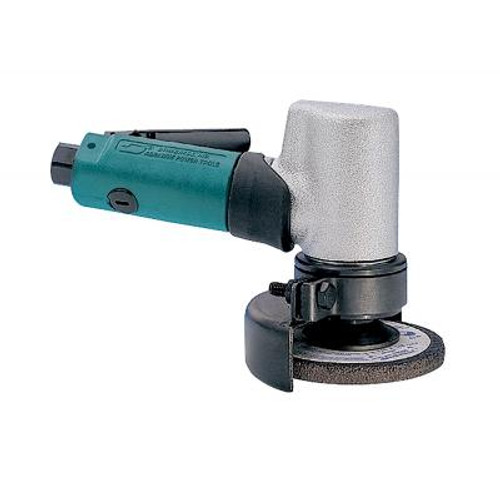 """Dynabrade 52700 3"""" 7 Degree Offset Depressed Center Wheel Grinder   0.7 HP   18,000 RPM   Gearless   Front Exhaust   3/8""""-24 Spindle Thread"""