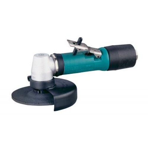 """Dynabrade 52706 4"""" Right Angle Depressed Center Wheel Grinder   0.4 HP   12,000 RPM   Geared Motor   Rear Exhaust   3/8""""-24 Spindle Thread"""