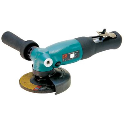 """Dynabrade 52632 4-1/2"""" Right Angle Depressed Center Wheel Grinder   1.3 HP   12,000 RPM   Geared Motor   Rotational Exhaust   5/8""""-11 Spindle Thread"""