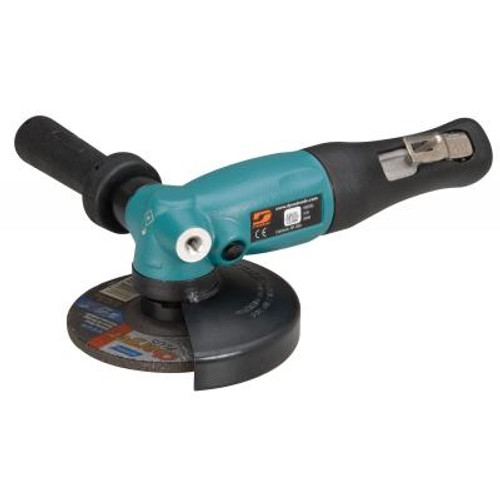 """Dynabrade 52633 5"""" Right Angle Depressed Center Wheel Grinder   1.3 HP   12,000 RPM   Geared Motor   Rotational Exhaust   5/8""""-11 Spindle Thread"""