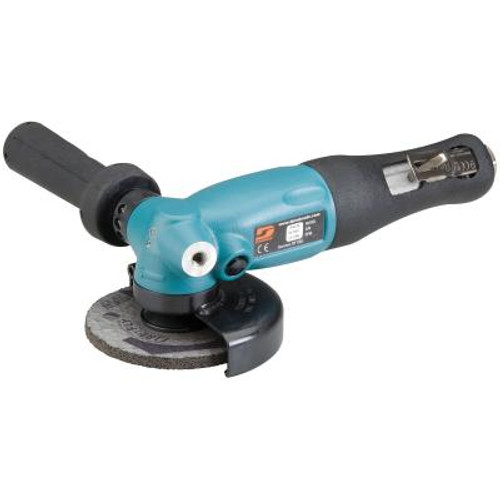 """Dynabrade 52639 5"""" Right Angle Depressed Center Wheel Grinder   1.3 HP   12,000 RPM   Geared Motor   Rotational Exhaust   M14 x 2 Spindle Thread"""