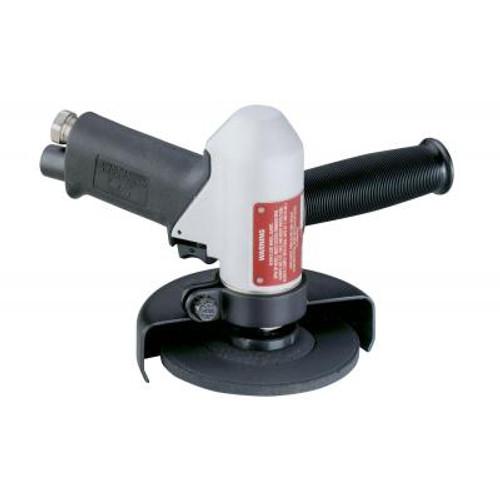 "Dynabrade 50340 4-1/2""-5"" Pistol Grip Depressed Center Wheel Grinder   0.7 HP   11,000 RPM   Rotary Vane   Rear Exhaust   5/8"" - 11 Spindle Thread"