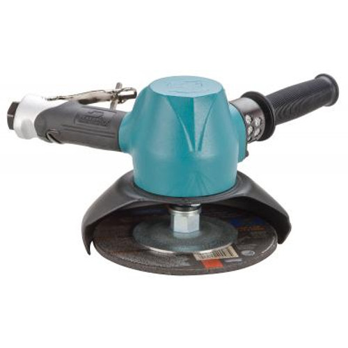 """Dynabrade 53232 7"""" Type 27 Vertical Depressed Center Wheel Grinder   2 HP   6,000 RPM   Gearless   Rotational Exhaust   5/8""""-11 Spindle Thread"""
