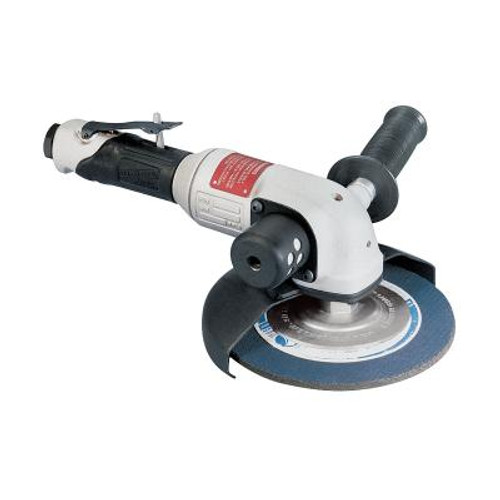 """Dynabrade 50350 7"""" Right Angle Depressed Center Wheel Grinder   2 HP   6,000 RPM   Side Exhaust   5/8"""" - 11 Spindle Thread"""