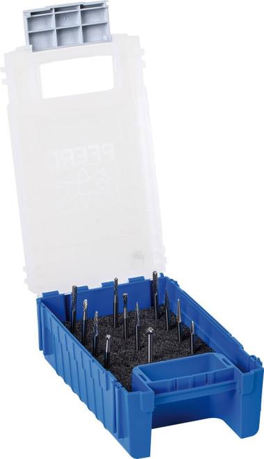 "PFERD 26526 12 Piece Carbide Burr Set - DOUBLE CUT   1/8"" Shank Diameter"