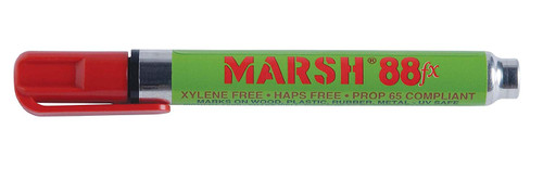 Marsh M88FX-RP 88FX Pigmented Type Paint Marker | Alcohol | Red (Box of 12)