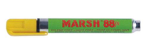Marsh M88FX-YP 88FX Pigmented Type Paint Marker | Alcohol | Yellow (Box of 12)