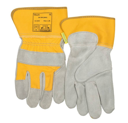 Weldas 10-2209L General Purpose Leather Gloves   Yellow   Large