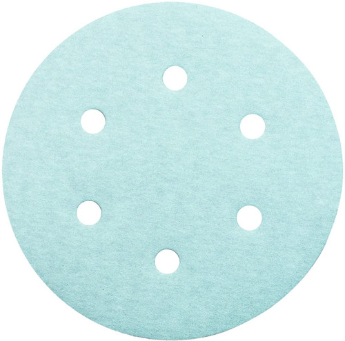 "United Abrasives 36329 6S Ceramic Sanding Disc | 6"" | 60 Grit | Hook and Loop | 6 Vacuum Holes | (Box of 50)"