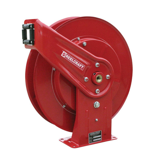 Reelcraft 7600 OHP Heavy Duty Spring Retractable Hose Reel | 3/8 in. Hose Diameter | 50 Ft. Hose Length | 4,800 Max PSI