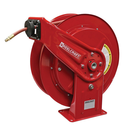 Reelcraft HD76075 OLP Heavy Duty Spring Retractable Hose Reel | 3/8 in. Hose Diameter | 75 Ft. Hose Length | 300 Max PSI