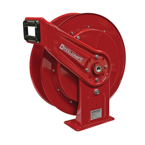 Reelcraft HD74005 OHP Heavy Duty Spring Retractable Hose Reel | 1/4 in. Hose Diameter | 100 Ft. Hose Length | 5,000 Max PSI