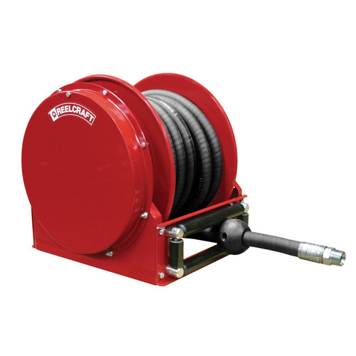 Reelcraft FSD14050 OLP Spring Retractable Low Profile Hose Reel | 1 in. Hose Diameter | 50 Ft. Hose Length | 50 Max PSI