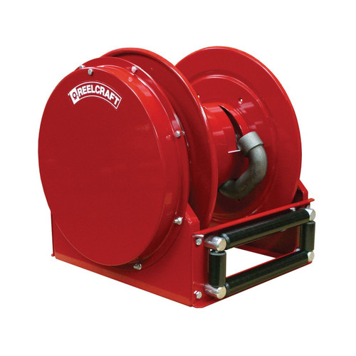 Reelcraft FSD14005 OLP Spring Retractable Low Profile Hose Reel | 1 in. Hose Diameter | 50 Ft. Hose Length | 50 Max PSI