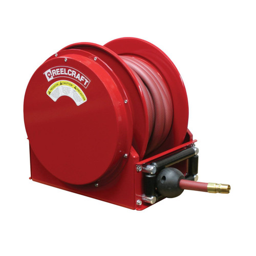 Reelcraft SD14050 OLP Spring Retractable Low Profile Hose Reel | 1 in. Hose Diameter | 50 Ft. Hose Length | 300 Max PSI
