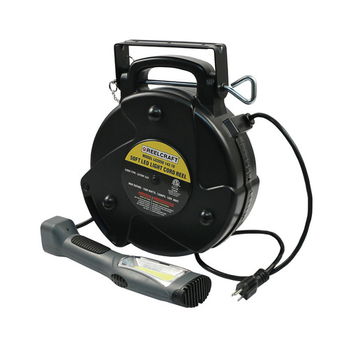 Reelcraft LG3050 143 10 Light And Medium Duty Cord Reel | 125 Volt / 12 Amp | 50 Ft. Cable Length | Led