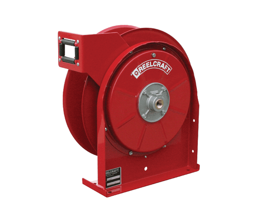 Reelcraft TH5400 OMP Dual Hydraulic Spring Retractable Hose Reel | 1/4 in. Hose Diameter | 25 Ft. Hose Length | 2,000 Max PSI