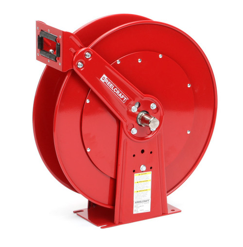 Reelcraft TH86000 OMP Dual Hydraulic Spring Retractable Hose Reel | 3/8 in. Hose Diameter | 50 Ft. Hose Length | 2,000 Max PSI