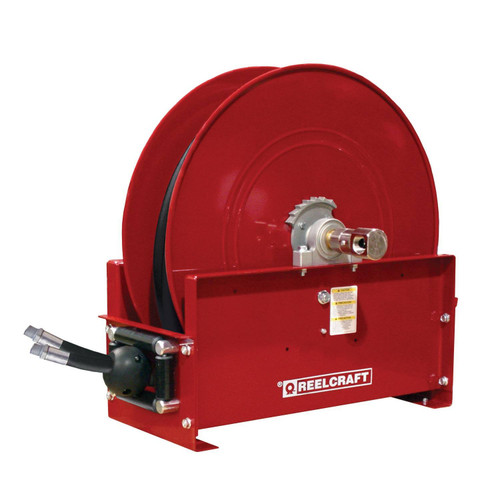 Reelcraft TH9265 OMPBW Dual Hydraulic Spring Retractable Hose Reel | 1/2 in. Hose Diameter | 65 Ft. Hose Length | 2,000 Max PSI