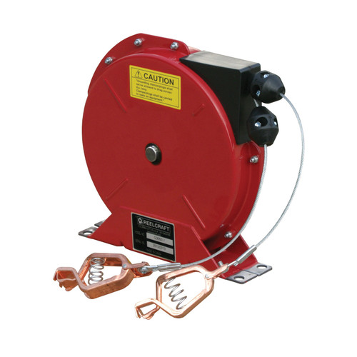 Reelcraft G 3050 Y Static Discharge And Grounding Reel | 50 Ft. Cable Length | Steel Cable