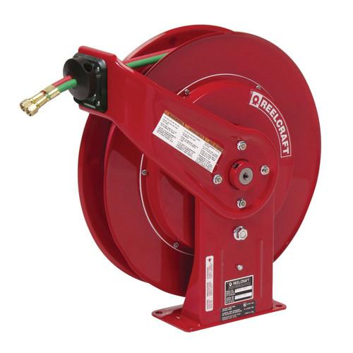 Reelcraft TW7450 OLPT Gas Welding Hose Reel | 1/4 in. Hose Diameter | 50 Ft. Hose Length | 200 Max PSI