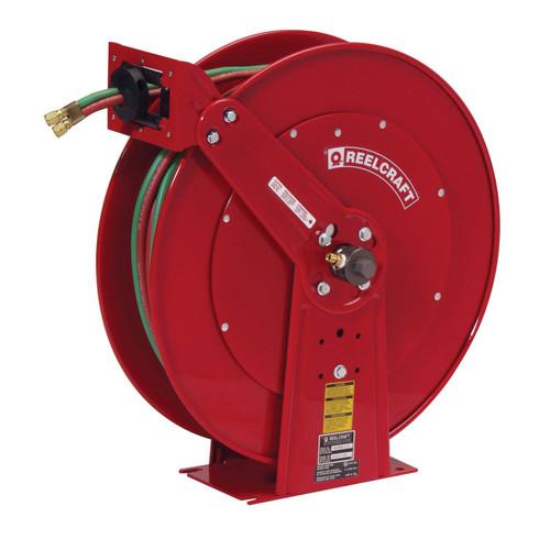 Reelcraft TW86075 OLPT Gas Welding Hose Reel | 3/8 in. Hose Diameter | 75 Ft. Hose Length | 200 Max PSI