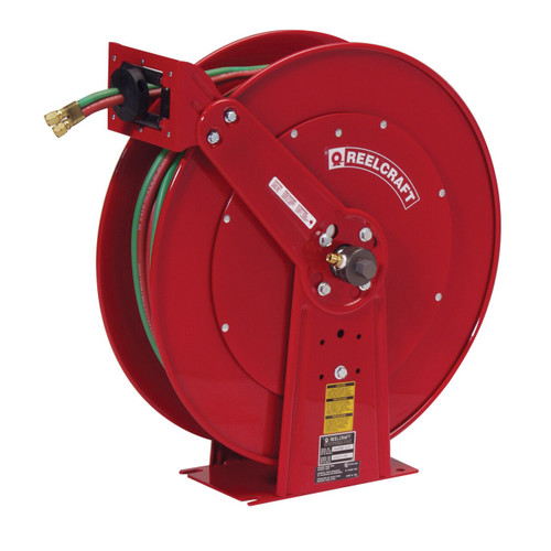 Reelcraft TW86000 OLPT Gas Welding Hose Reel | 3/8 in. Hose Diameter | 75 Ft. Hose Length | 200 Max PSI