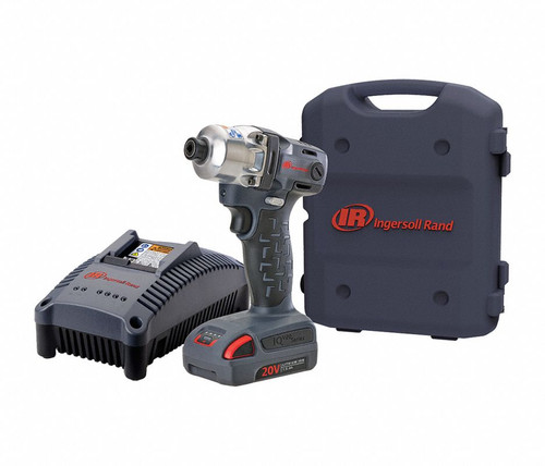 """Ingersoll Rand W5111-K12 Cordless Quick Change Anvil Impact Wrench Kit   1/4"""" Drive   175 ft. Lbs"""