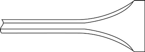 "Ingersoll Rand WF-14F-7 Narrow Scaling Chisel   7"" Length   Box of 5"