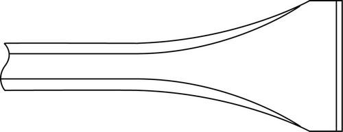 "Ingersoll Rand WF-14B-007 Scaling Chisel   1/2"" Square Shank   7"" Length   1-3/8"" Blade Width"