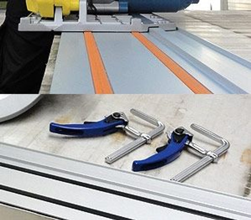CS Unitec 608275 SET Circular Saw Accessories | Rail with Clamping System | For Models 608270 U And 5 1117 0020