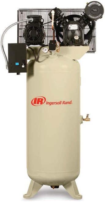Ingersoll Rand 2340L5-V Reciprocating Air Compressor | 45464955 | 5 HP | 230 Volts | 3-Phase | 14.3 ACFM | 175 PSI | 60 Vertical Gallon Tank