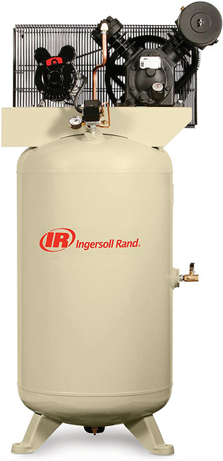 Ingersoll Rand 2340N5-V Reciprocating Air Compressor | 45465028 | 5 HP | 460 Volts | 3-Phase | 14.3 ACFM | 175 PSI | 80 Vertical Gallon Tank
