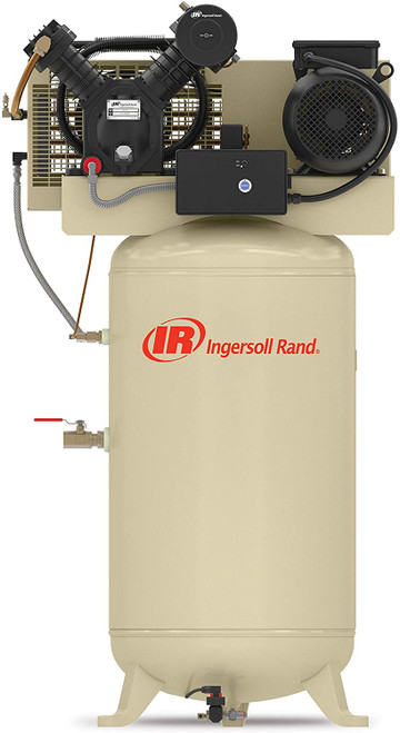 Ingersoll Rand 2475N7.5-P Reciprocating Air Compressor | 45465523 | 7.5 HP | 230 Volts | 1 -Phase | 24 ACFM | 175 PSI | 80 Vertical Gallon Tank
