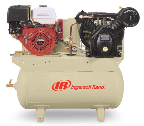 Ingersoll Rand 2475F13GH Reciprocating Air Compressor   45466067   13 HP   Honda 13   25 ACFM   175 PSI   30 Horizontal Gallon Tank