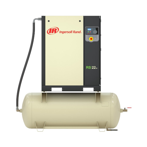 Ingersoll Rand RS18i-A125 Rotary Screw Air Compressor | 47660786001 | 25 HP | 230 Volts | 3-Phase | 107 ACFM | 125 PSI | 240 Gallon Tank