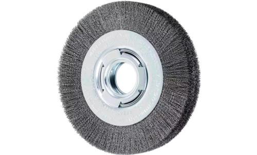 "PFERD 81112 Medium Face Crimped Wire Wheel | 6"" Diameter | 1-1/16"" Width | Carbon Steel Wire"