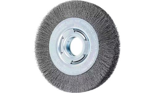 "PFERD 81113 Medium Face Crimped Wire Wheel | 6"" Diameter | 1-1/16"" Width | Carbon Steel Wire"