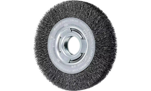 "PFERD 81114 Medium Face Crimped Wire Wheel | 6"" Diameter | 1-1/16"" Width | Carbon Steel Wire"