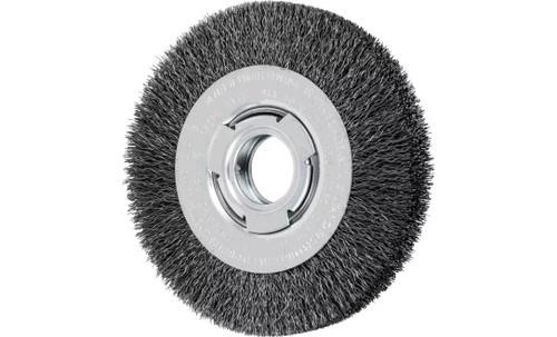 "PFERD 81116 Medium Face Crimped Wire Wheel | 6"" Diameter | 1-1/16"" Width | Carbon Steel Wire"