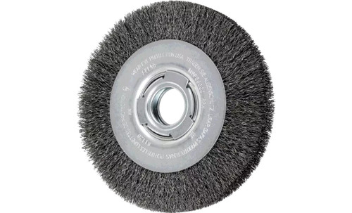 "PFERD 81120 Medium Face Crimped Wire Wheel | 7"" Diameter | 1"" Width | Carbon Steel Wire"