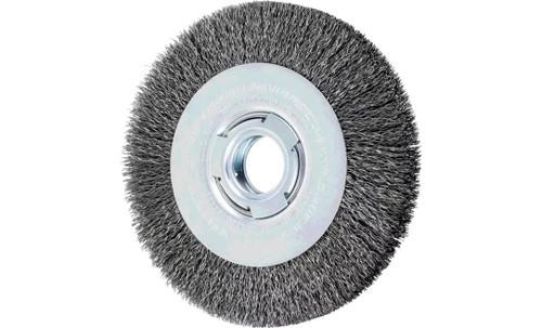 "PFERD 81122 Medium Face Crimped Wire Wheel | 7"" Diameter | 1"" Width | Carbon Steel Wire"