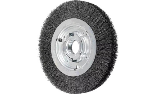 "PFERD 81126 Medium Face Crimped Wire Wheel | 8"" Diameter | 1"" Width | Carbon Steel Wire"
