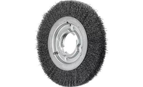 "PFERD 81127 Medium Face Crimped Wire Wheel | 8"" Diameter | 1"" Width | Carbon Steel Wire"