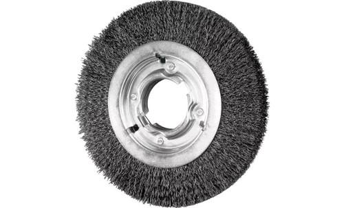 "PFERD 81128 Medium Face Crimped Wire Wheel | 8"" Diameter | 1"" Width | Carbon Steel Wire"