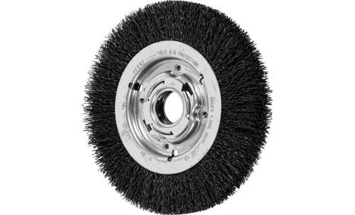 "PFERD 81129 Medium Face Crimped Wire Wheel | 8"" Diameter | 1"" Width | Carbon Steel Wire"