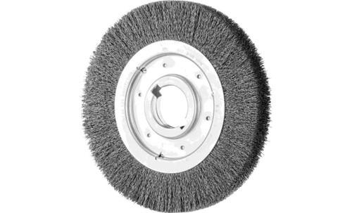 "PFERD 81133 Medium Face Crimped Wire Wheel | 10"" Diameter | 1-1/4"" Width | Carbon Steel Wire"
