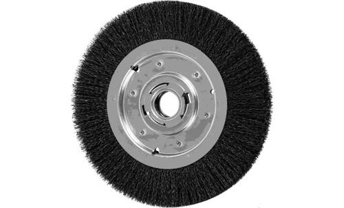 "PFERD 81134 Medium Face Crimped Wire Wheel | 10"" Diameter | 1-1/4"" Width | Carbon Steel Wire"